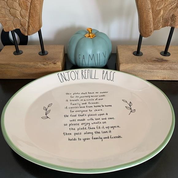 COPY - 🍁NEW!large Oval platter ENJOY. REFILL. PASS